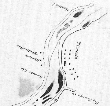 Hunters and may's Islands to Tionesta from Babbitt 1855