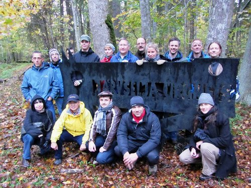 FURN conference participants from 10 countries, Jarvselja Forest